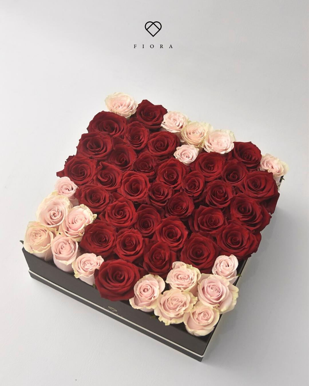 Shape of My Heart (49 Fresh Roses)