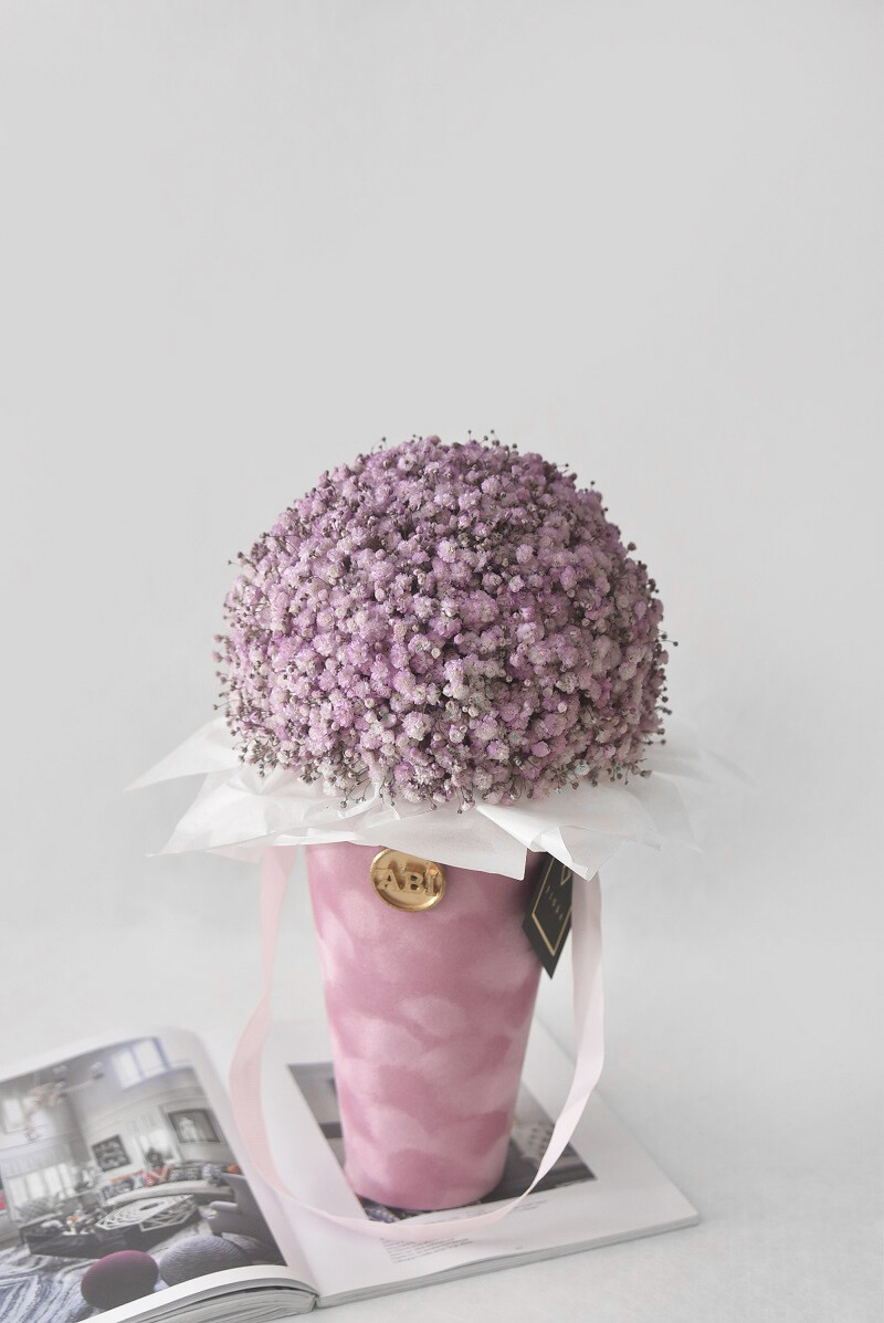 """Flower Cone: """"Cotton Candy"""""""