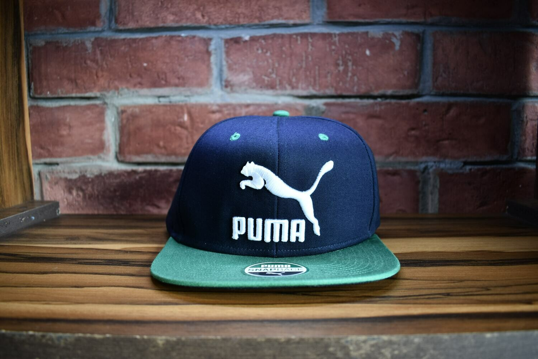 Puma - Gorra Azul Verde  Snap