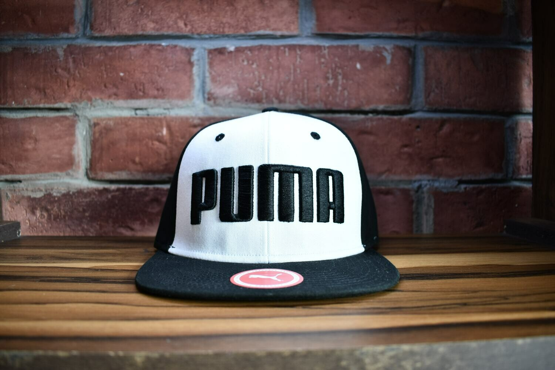 Puma - Gorra Blanco Negro Letras
