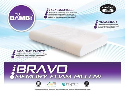 Bambi Bravo Contour Memory Foam Pillow
