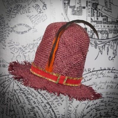 Huguenot straw 1870 hat