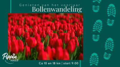za 10 april en zo 11 april | Bollenwandeling | ca. 10 of ca. 18 km