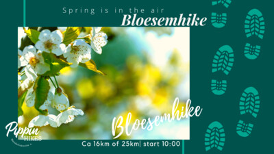 za 17 en zo 18 april  | Bloesemhike  | ca. 16km of ca 25km