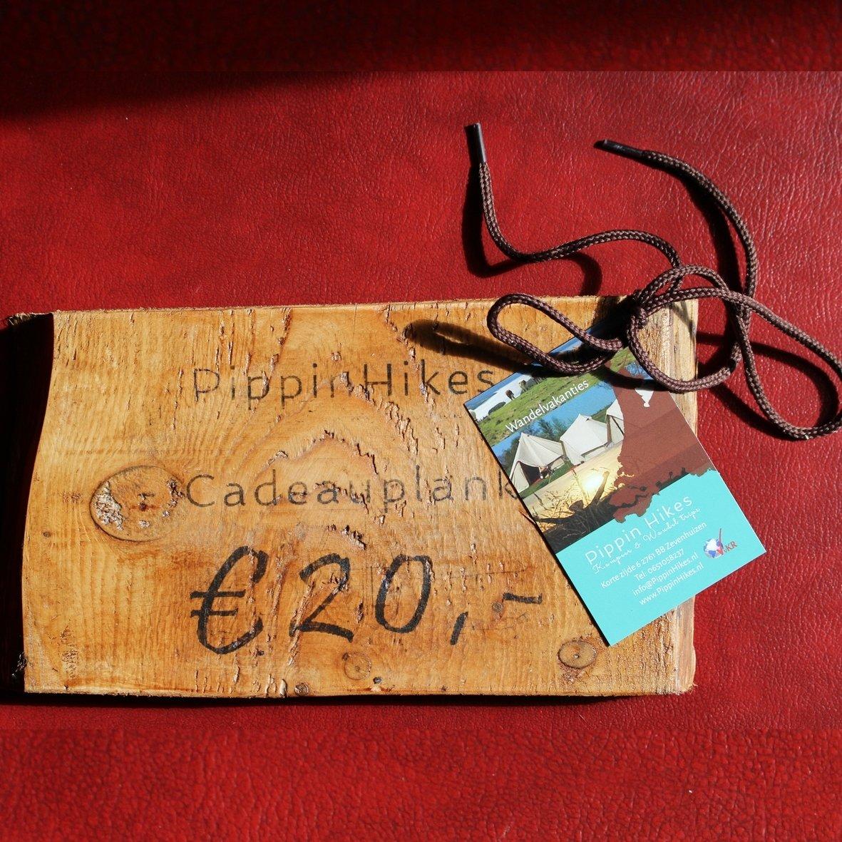 Cadeau plankje | div. bedragen