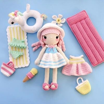 Куколка Санни + Набор Пляж + раскраска