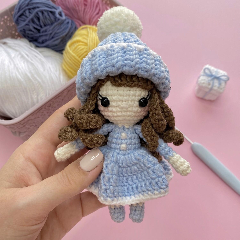 МК Зимняя мини куколка