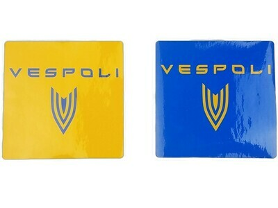 VESPOLI Logo Stickers, Square