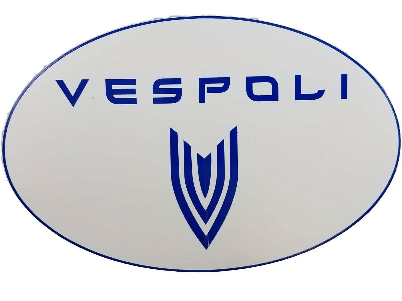 VESPOLI Logo Sticker, Oval