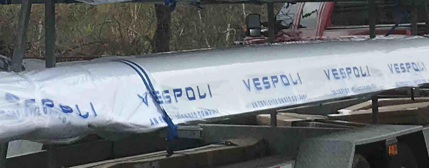 Vespoli Plastic Boat Wrap