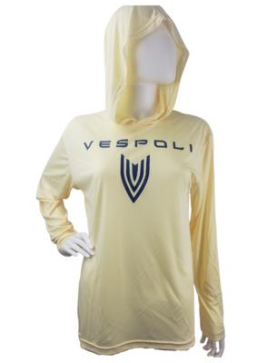 Vespoli Yellow Long Sleeve UV Shirt with Hood