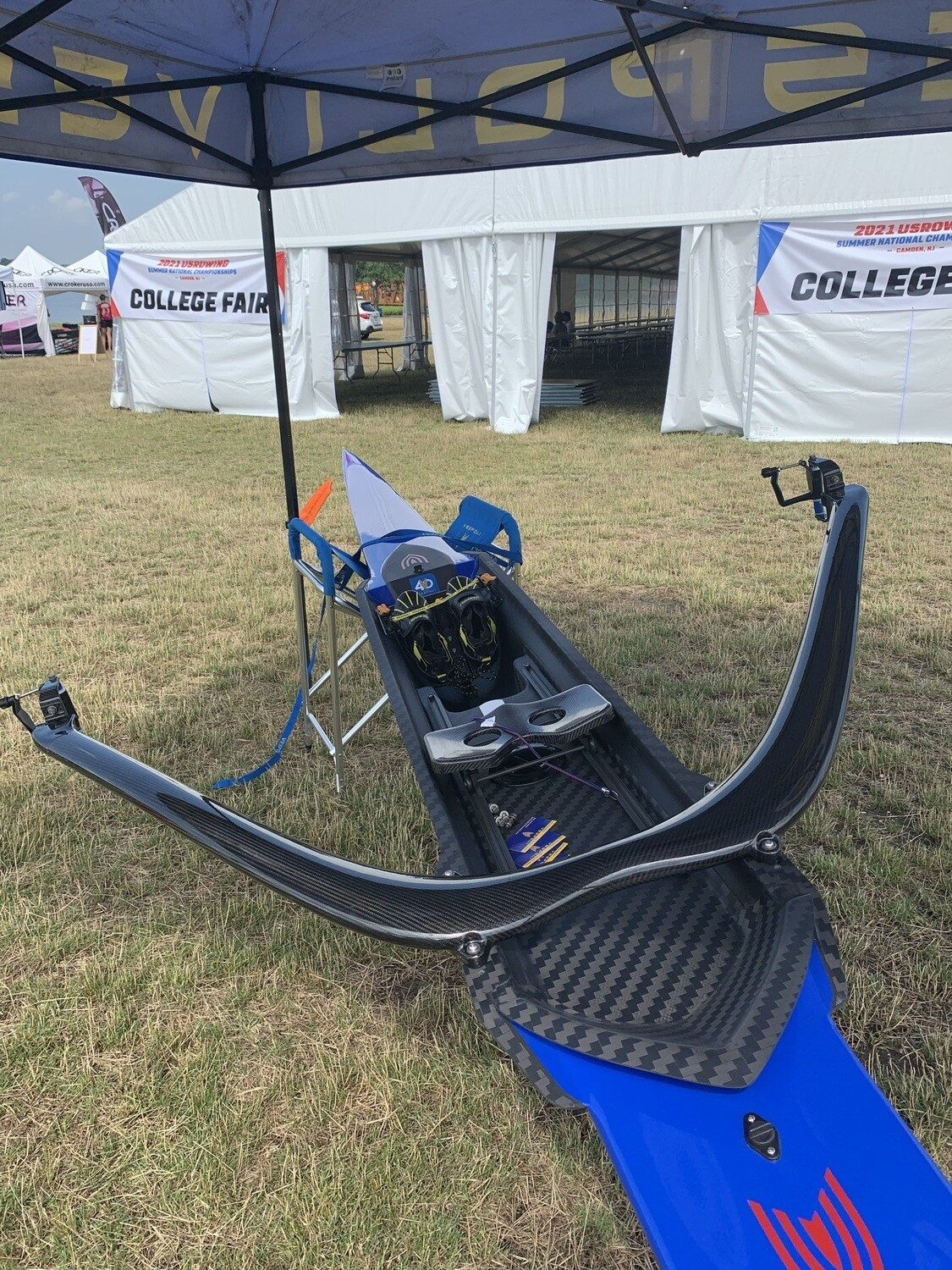 Carbon Bow Mount Sculling Rigger for VHP Singles