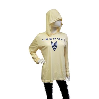 Sun Protective Hoodie, Yellow with VESPOLI Logo