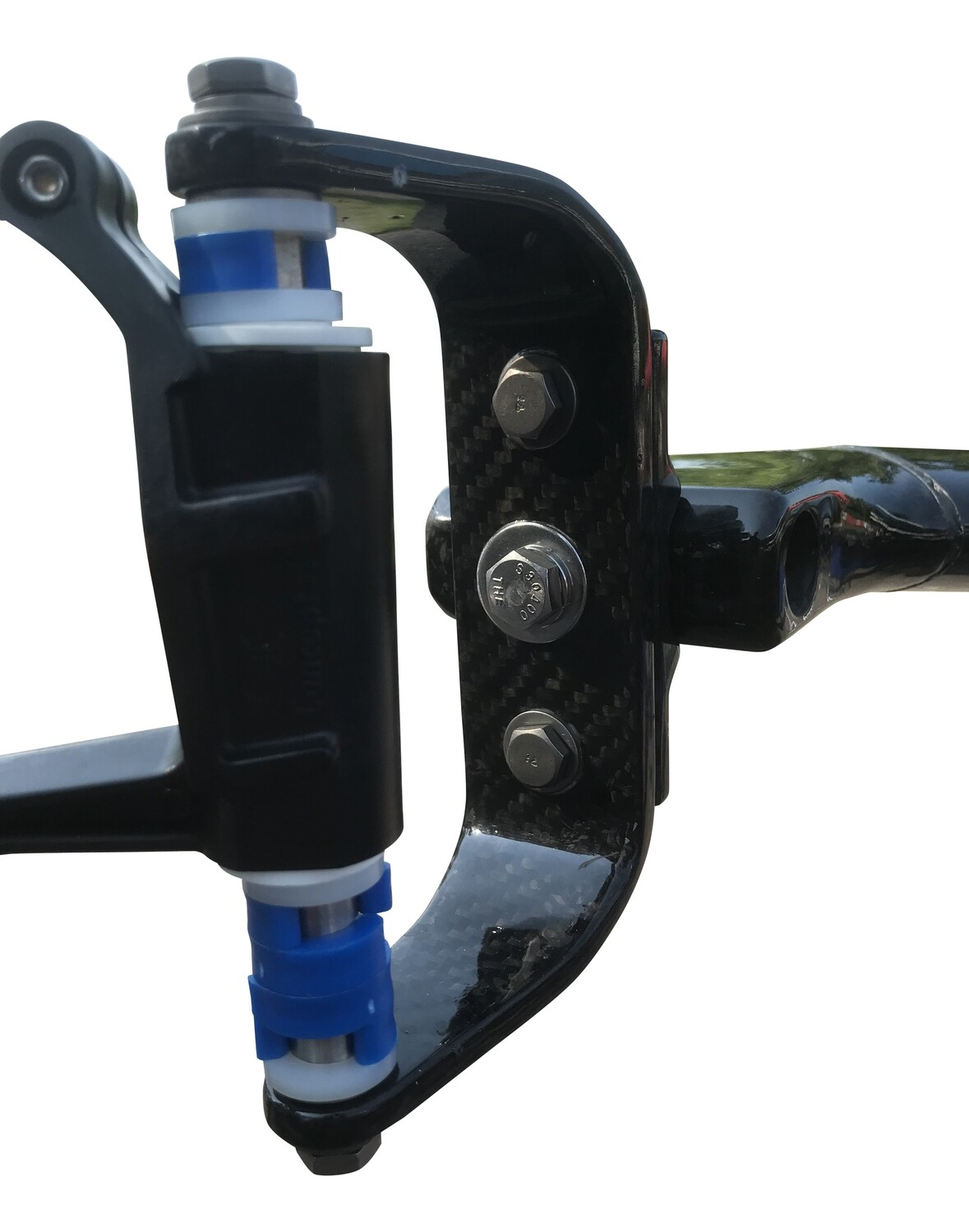 Outboard Assembly for Carbon Bow Mount Rigger