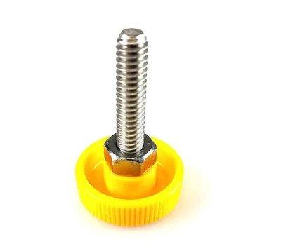 Quick Release Yellow Thumb Screw 1.25