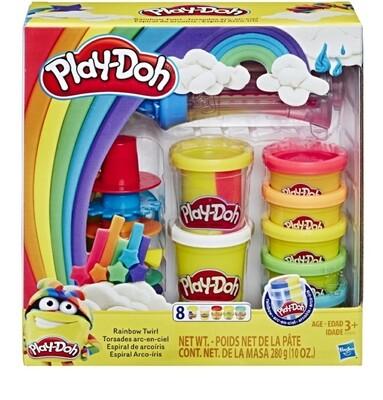 Play-Doh Rainbow Twirl Set, 8 Cans