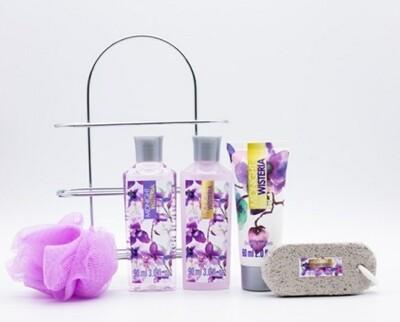 Midnight wisteria mini jeu de douche pour le voyage