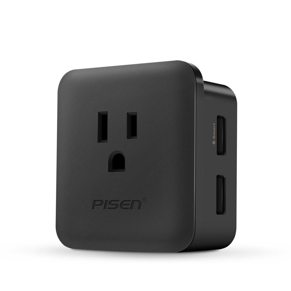 Pisen 2.4A Smart Charging Plug (US Socket)