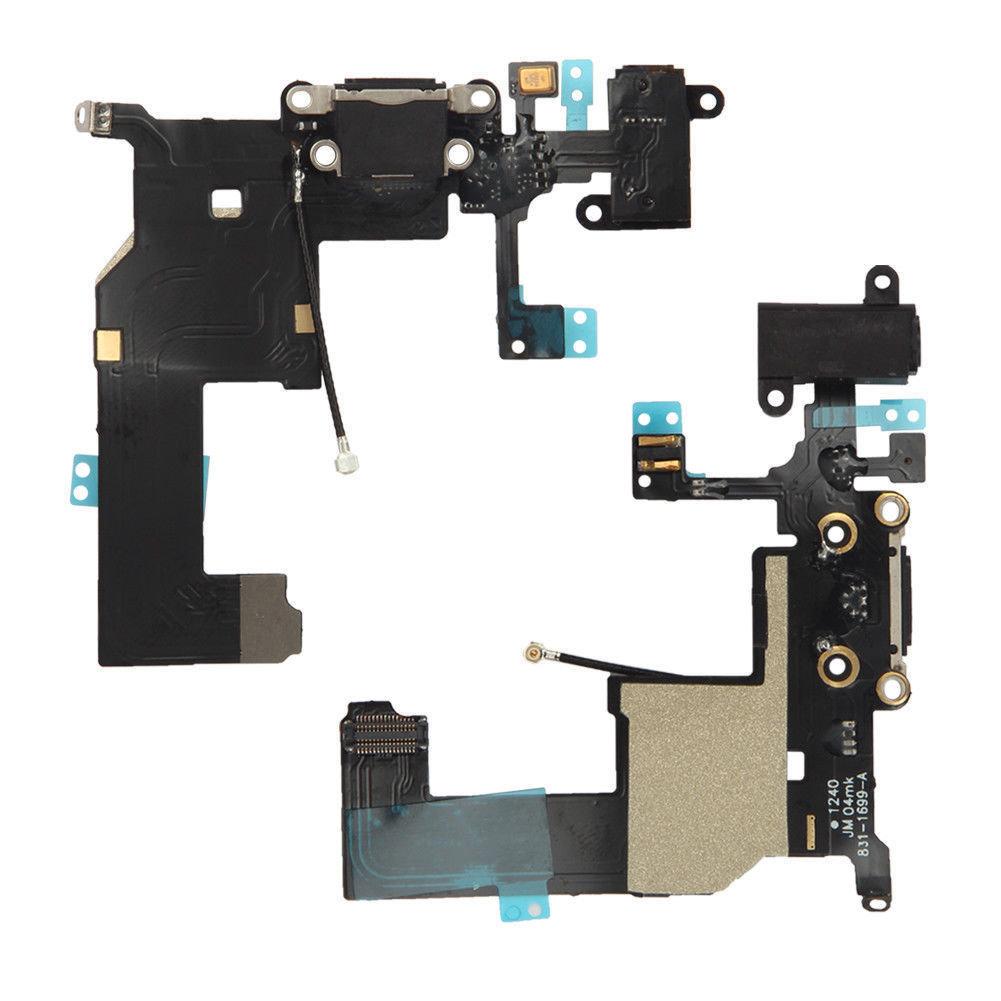 iPhone 5 Charging Port Flex Replacement - Black