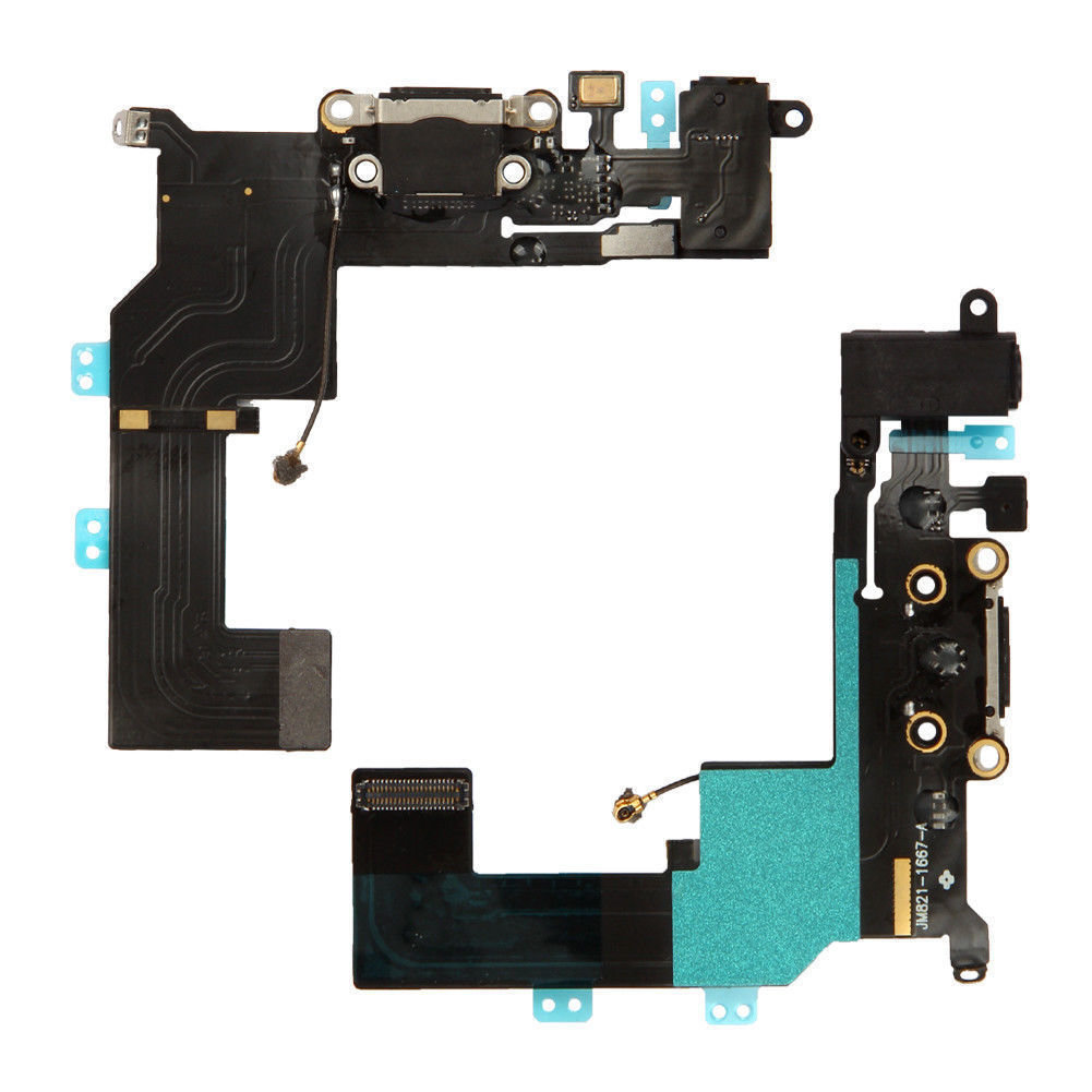 iPhone 5S Charging Port Flex Replacement - Black