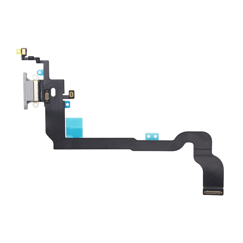 iPhone X Charging Port Flex Replacement - Silver