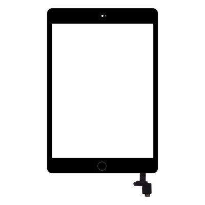 iPad Mini 1 / iPad Mini 2 Glass & Touch Digitizer Replacement - Black - Original Quality
