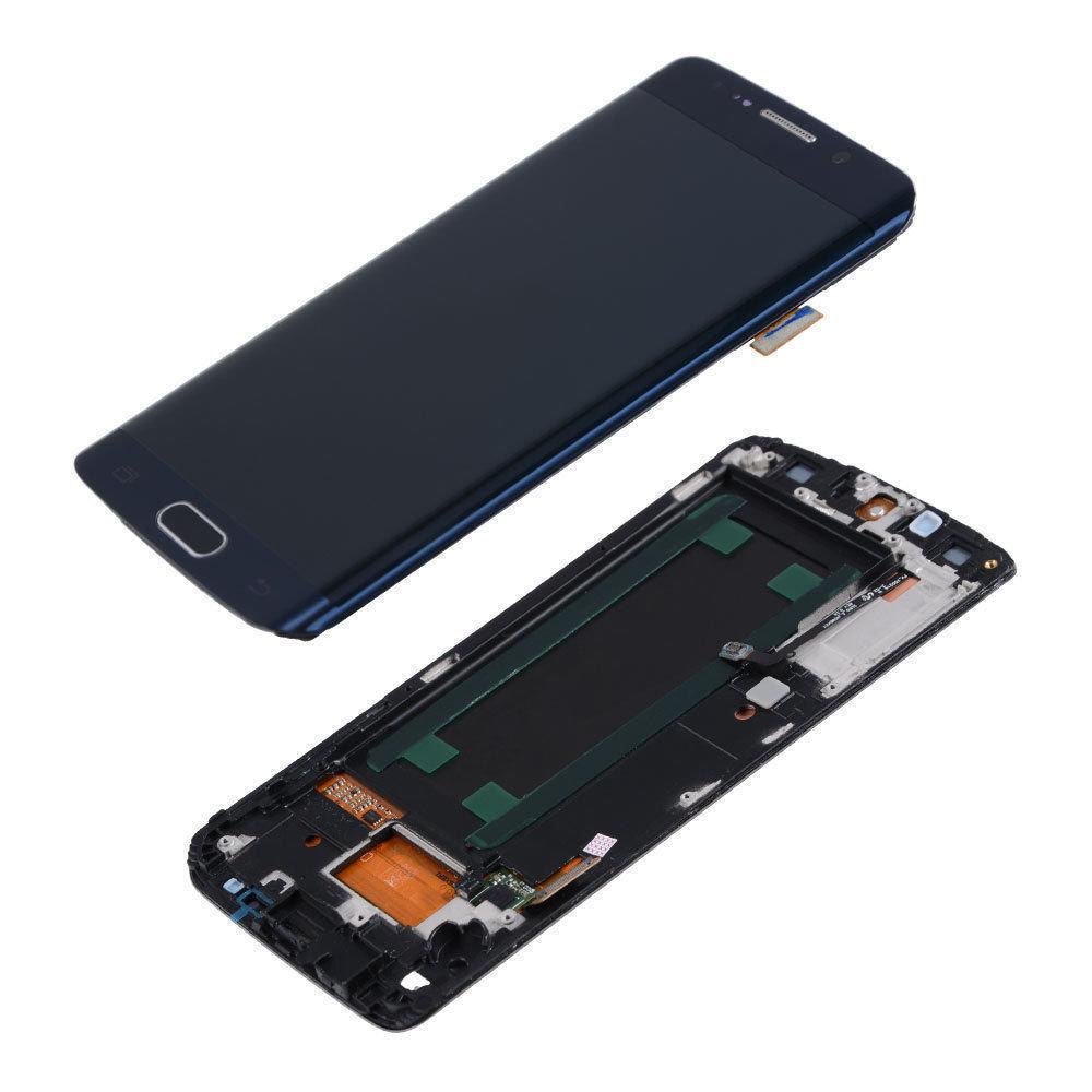 Samsung Galaxy S6 Edge Screen Replacement - Black/Blue
