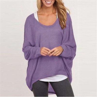 Batwing Comfy Long Sleeve Casual Loose