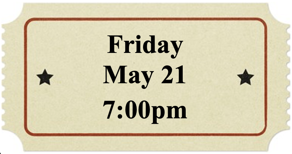 Friday, May 21 at 7:00pm
