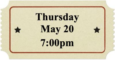 Thursday, May 20 at 7:00pm