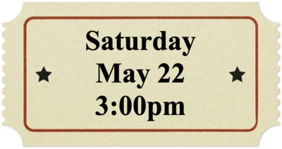 Saturday, May 22 at 3:00pm