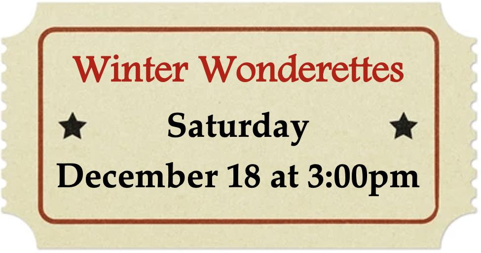 Saturday, December 18 at 3:00pm