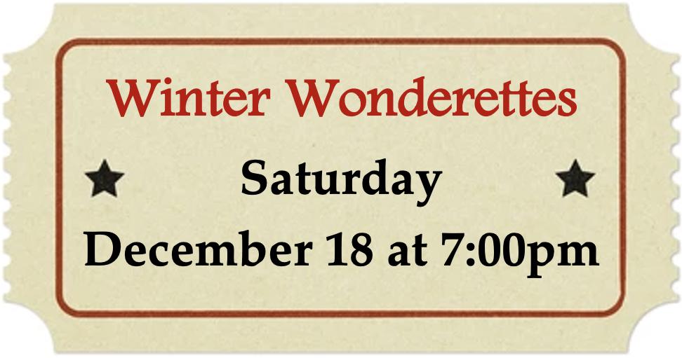 Saturday, December 18 at 7:00pm