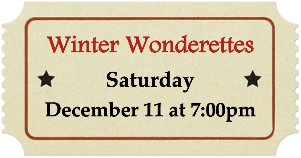 Saturday, December 11 at 7:00pm