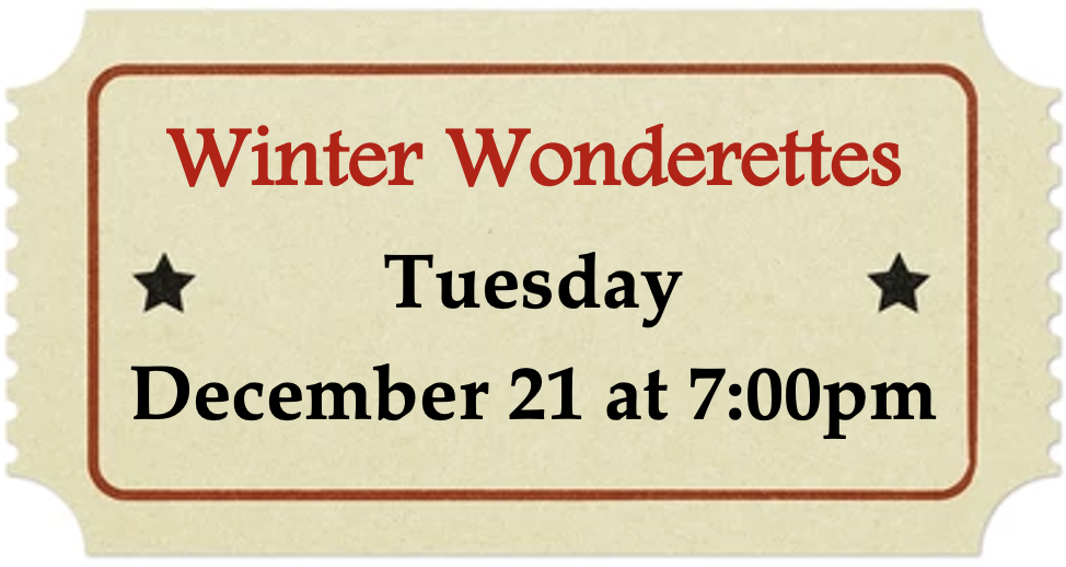Tuesday, December 21 at 7:00pm