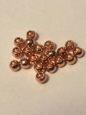 Copper Tungsten Beads 3/32nds 2.4mm. 20 Per Pack