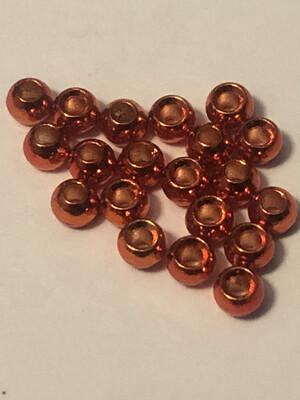Orange Tungsten Beads 20 Pack. 7/64ths / 2.8mm