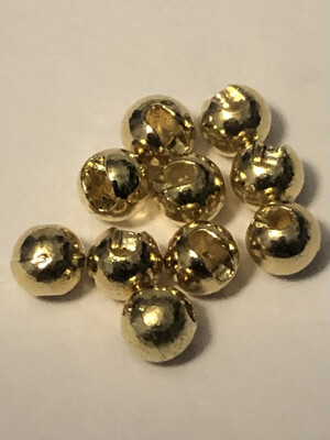 Gold Slotted Tungsten Beads 1/8th. 3.5mm. 10 Per Pack