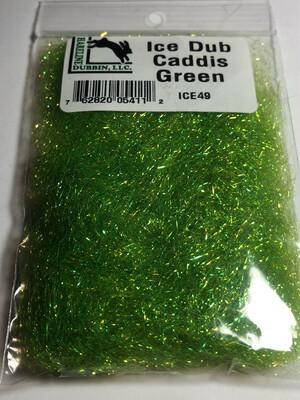 Hareline Dubbin Ice Dub Caddis Green