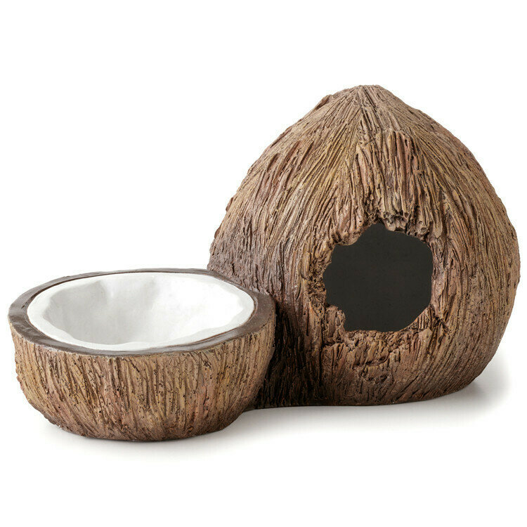 Coconut Hide and Water Dish by Exo Terra