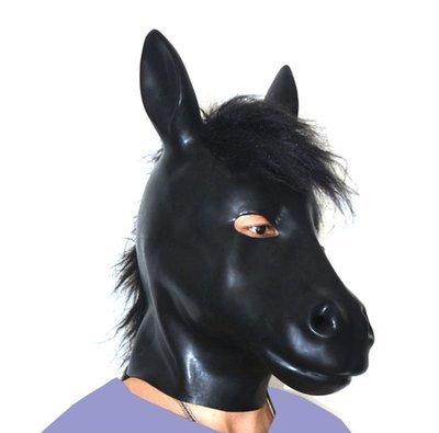 Latex Animal Masks - (6 Styles - Horse, Dog, Cat, Pig, Leopard & Wolf)