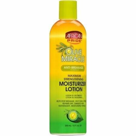 African Pride - Olive Miracle Anti-Breakage Maximum Strengthening Moisturizer Lotion