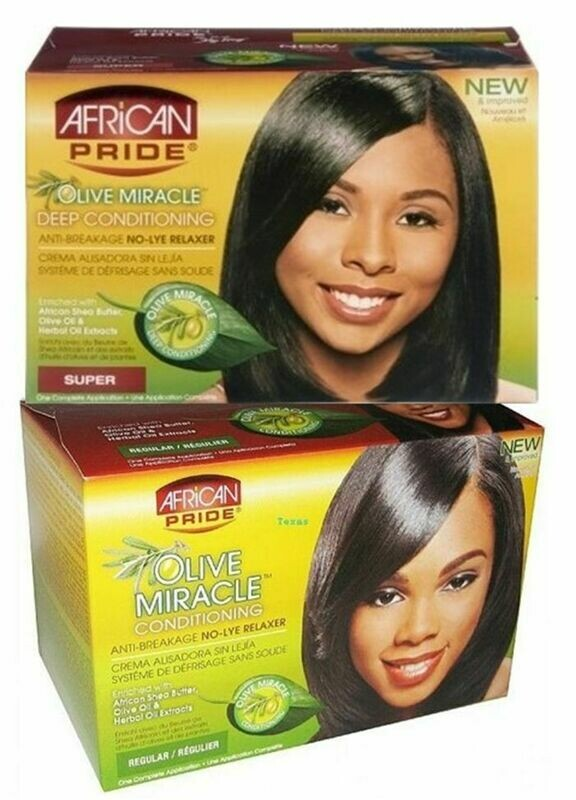 African Pride - Olive Miracle Deep Conditioning Anti-Breakage No-Lye Relaxer