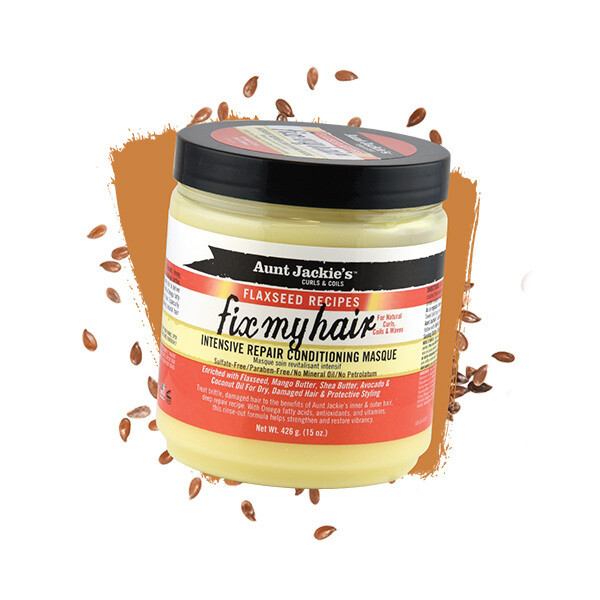 Aunt Jackie's - Flaxseed Recipes Fix My Hair, Intensive Repair Conditioning Masque.