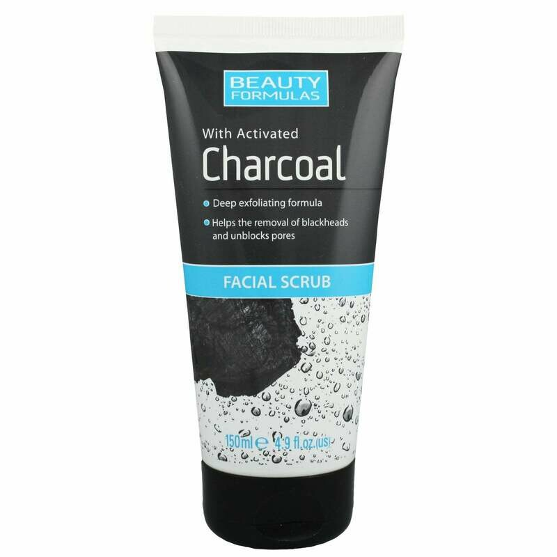 Beauty Formulas - Activated Charcoal Facial Scrub