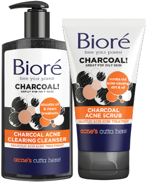 Biore - Charcoal Acne Cleanser Scrub