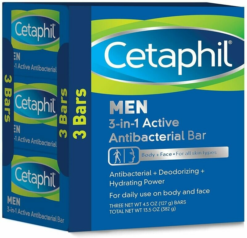Cetaphil - Men 3-in-1 Active Antibacterial Bar