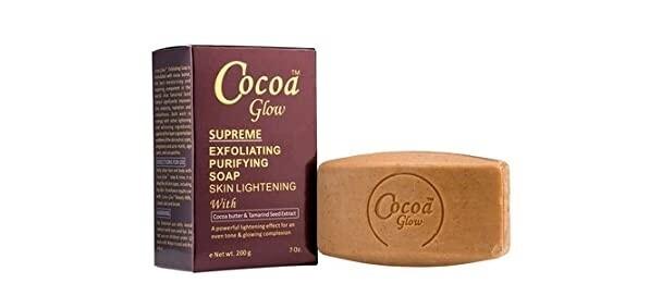 Cocoa Glow - Supreme Exfoliating Purifying Skin Lightening Soap