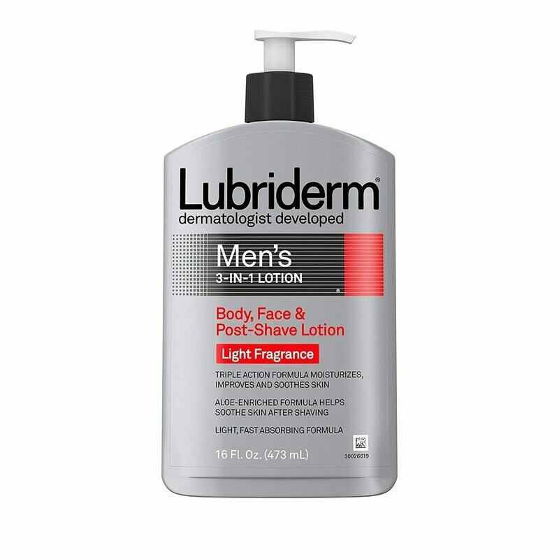 Lubriderm - Men's 3-In-1 Lotion Enriched with Soothing Aloe