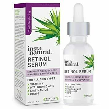 InstaNatural - Retinol Serum, Anti Aging Face Serum for Dark Spots & Wrinkles